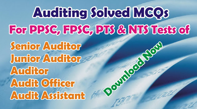 Auditing Solved MCQs Book for Senior Auditor