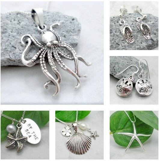 Modern Silver Beach Jewelry