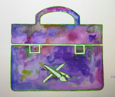 Work in progress - Portfolio icon by Elizabeth Casua, tHE 33ZTH oRDER. WATERCOLOUR Sketch