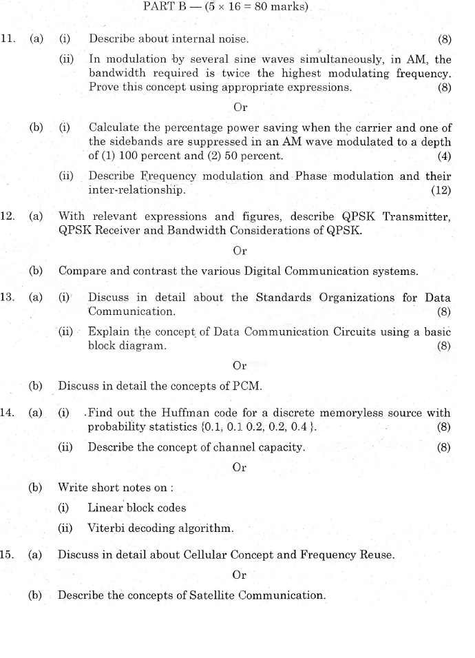 CS6304 Analog and Digital Communication Nov Dec 2014
