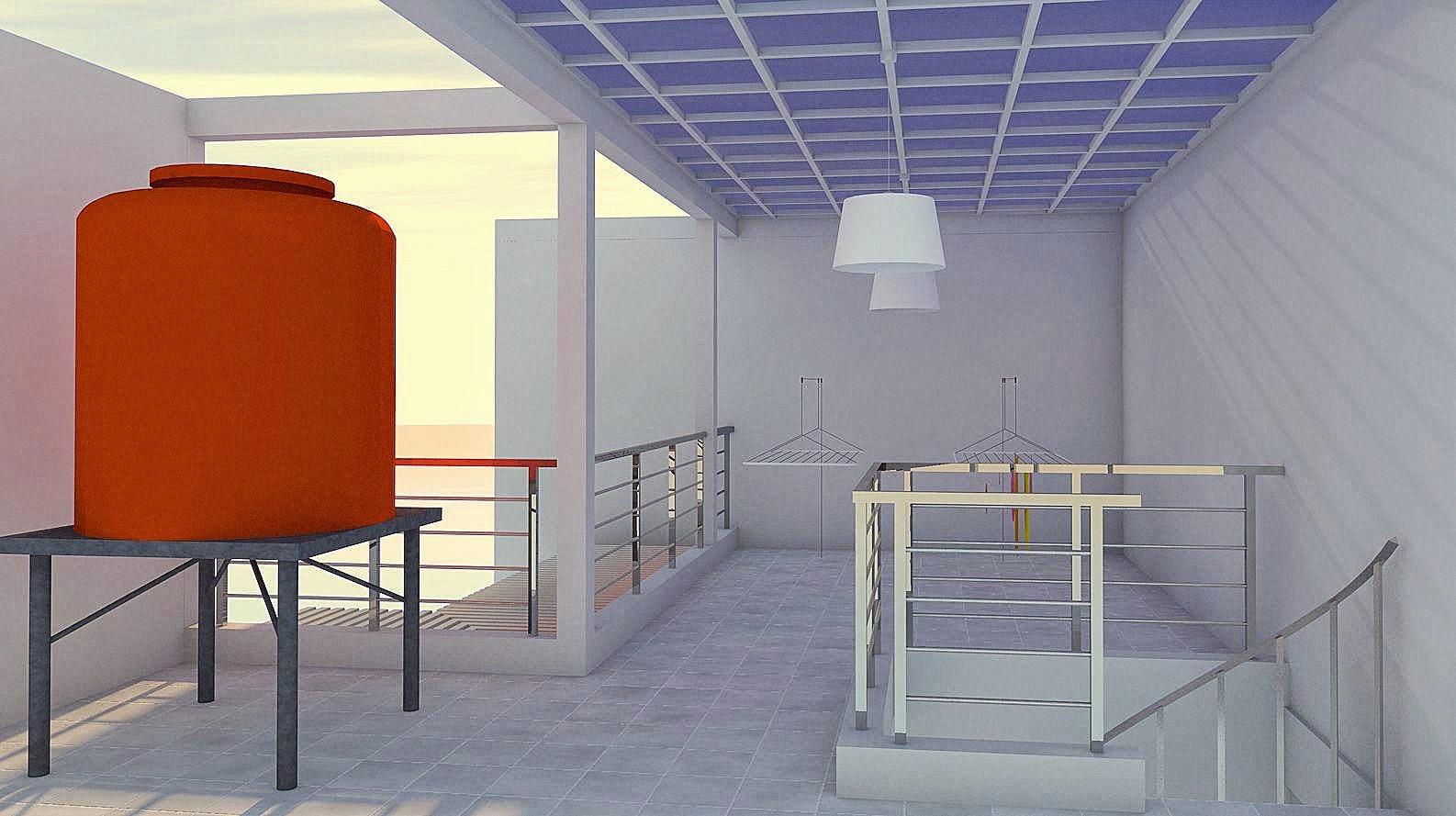 Desain Dapur Dan Tempat Jemuran Minimalis  Arsihome