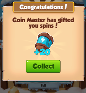 Free Coin-Master 25+10+10+10 spin and 2400k+2400k+1200k*3