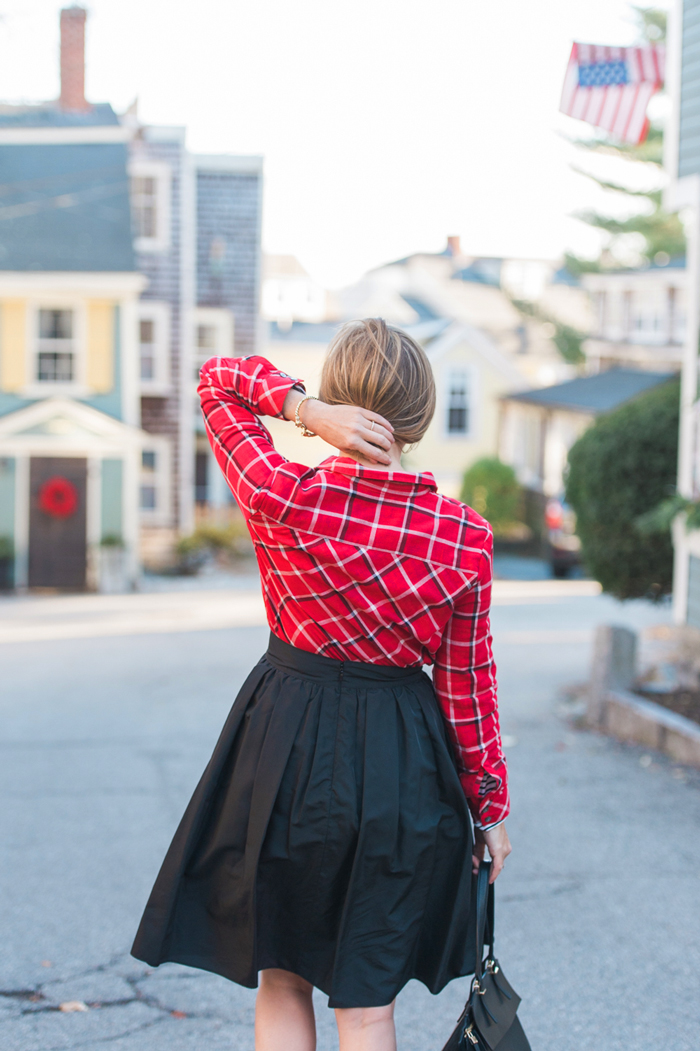 J.Jill red plaid shirt