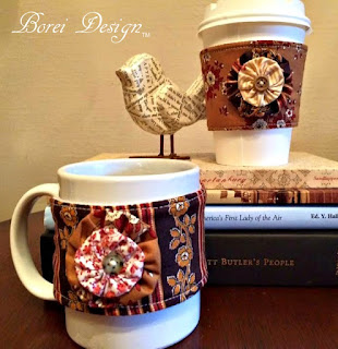 diy sewing: how to make reusable coffee sleeves with free pattern craft tutorial