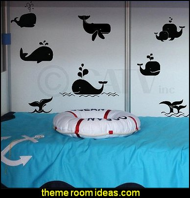 whales wall decals