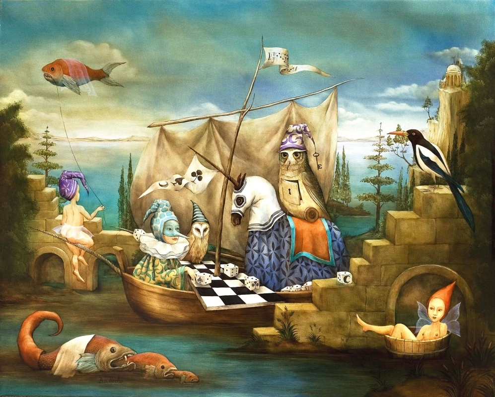 09-Le-Bateau-Licorne-Agnes-Boulloche-Paintings-that-Spill-over-into-the-World-of-Surrealism-www-designstack-co