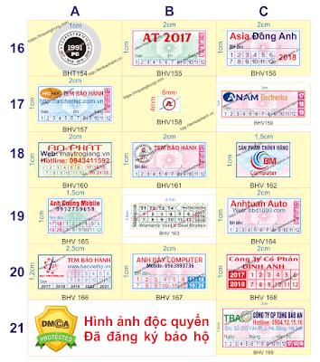 In tem bảo hành giá rẻ chỉ từ 50đ/cái, chất lượng cao, thiết kế đẹp miễn phí hà nội