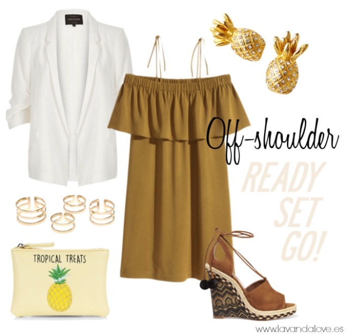 escote bardot vestido amarillo con cuñas de esparto Aquazzura