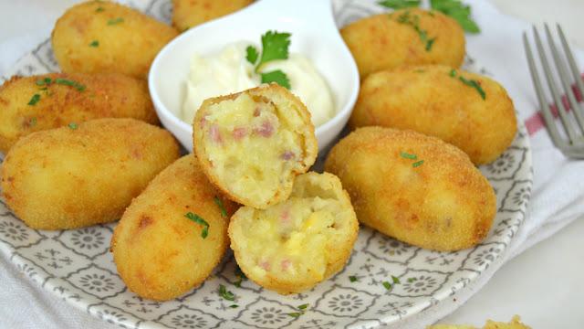 Croquetas de jamón y queso fáciles ¡Sin bechamel!