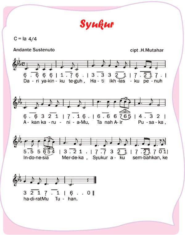 Contoh Lagu Anak Anak Bertangga Nada Mayor Kelas 5 Tema 4 Subtema 1 Pembelajaran 5 Imron Web Id