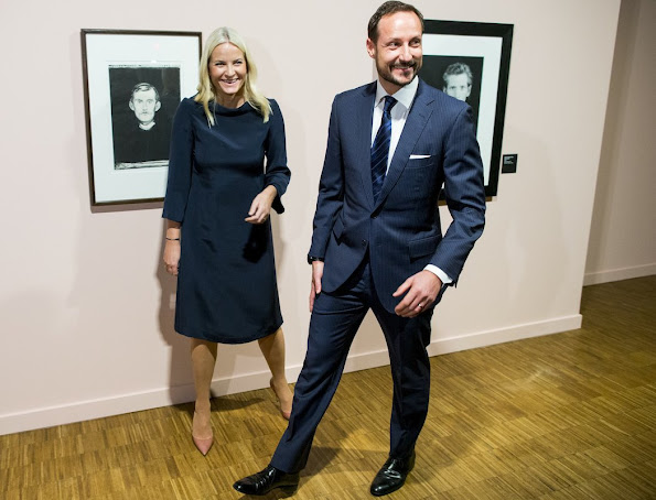 Crown Prince Haakon of Norway and Crown Princess Mette Marit of Norway attended opening of an exhibition at Munch Museum