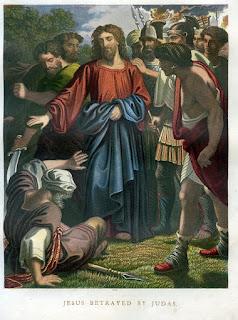 Jesus betrayed by Judas