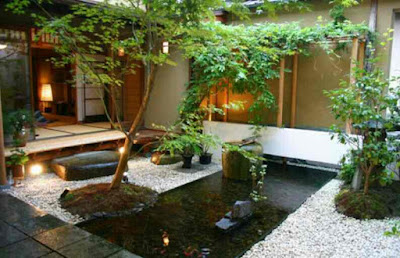 Desain kolam ikan minimalis di lahan sempit, contoh gambar kolam ikan hias