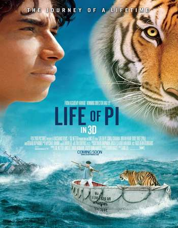 Life of Pi 2012 Hindi Dual Audio 550MB BluRay 720p ESubs HEVC Free Download Watch Online downloadhub.in