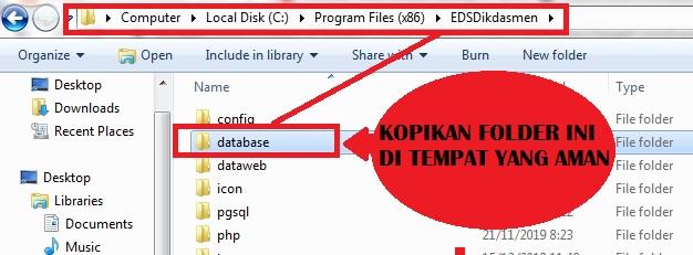 gambar cara backup database PMP 2019