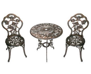 Oakland Living 3-Piece Rose Bistro Set