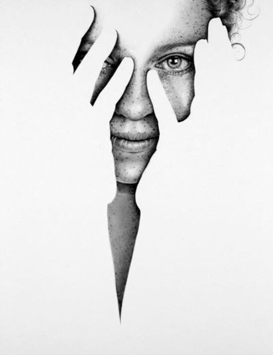 08-Fragments-Becky-Ileana-Hunter-Drawings-of-Minimalist-Realism-Meets-Celebrities-www-designstack-co