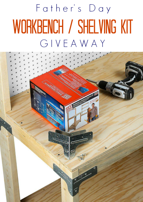 Enter for chances to win a Simpson Strong-Tie® Workbench or Shelving Kit.