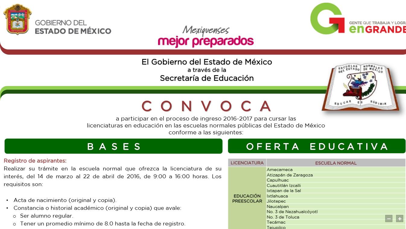 Sindicato de maestros al servicio del estado de m xico for Convocatoria maestros 2016