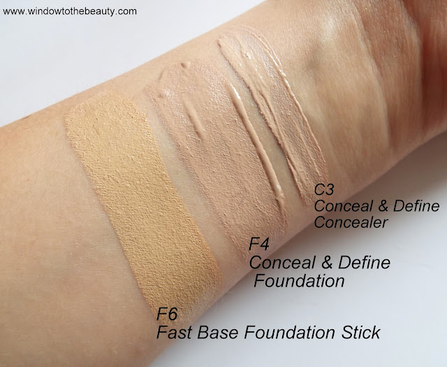 revolution f6 c3 f4 swatches
