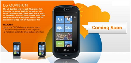 AT&T LG Quantum Windows Phone 7 coming soon