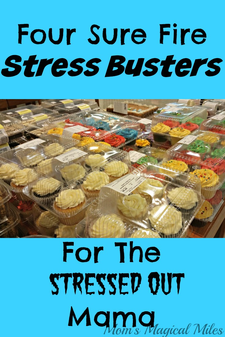 Stressed?  Chill, Mama.  I've got four surprisingly easy ways to take that stress down a few notches.  Cupcakes included.