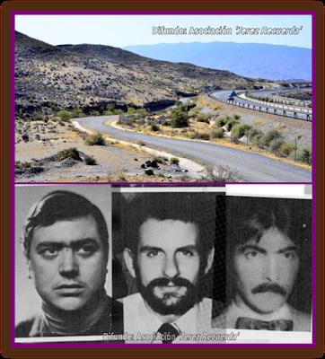 Barranco de Gérgal donde aparecieron los cuerpos de las víctimas del Caso Almería, Luis Montero García, Luis Cobo Mier y Juan Mañas Morales . Todo un montaje para eliminar indicios incriminatorios del secuestro, las torturas y el triple asesinato cometidos por la Guardia Civil en 1981.