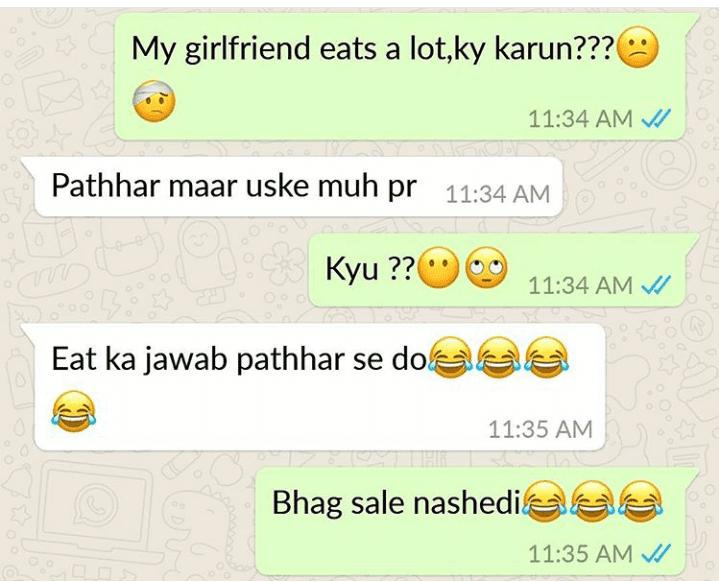 Funny Chats On Whatsapp Hindi  Urdu - Whatsapp Groups Link-3221