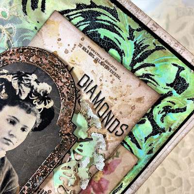 Frilly and Funkie https://frillyandfunkie.blogspot.com/2019/04/saturday-showcase-seth-apters-baked.html Spring Card Tutorial with Tim Holtz 3D Embossing Seth Apter Baked Velvet by Sara Emily Barker 15
