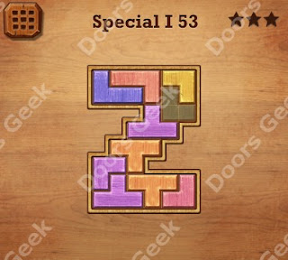 Cheats, Solutions, Walkthrough for Wood Block Puzzle Special I Level 53
