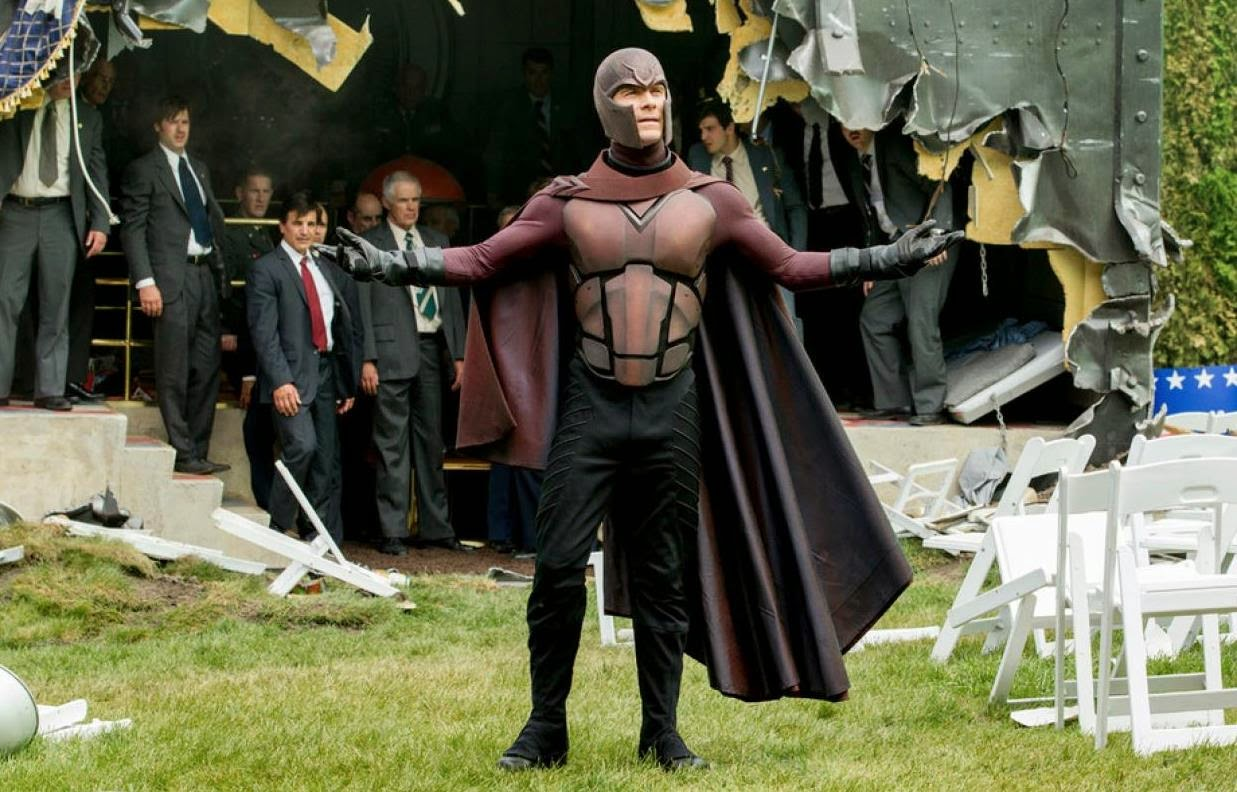 Michael Fassbender as Magneto, X-Men: Days of Future Past, Directed by Bryan Singer