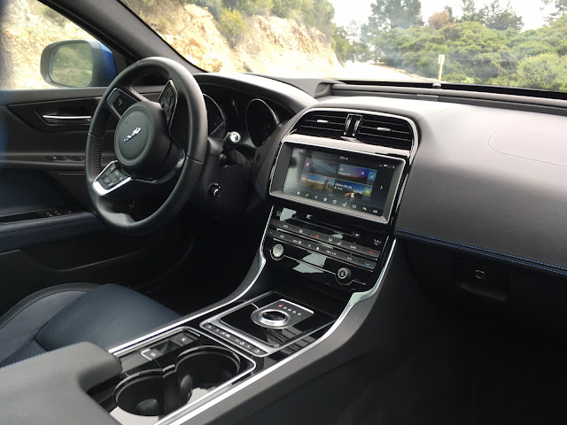 Interior view of 2017 Jaguar XE 35t AWD interior