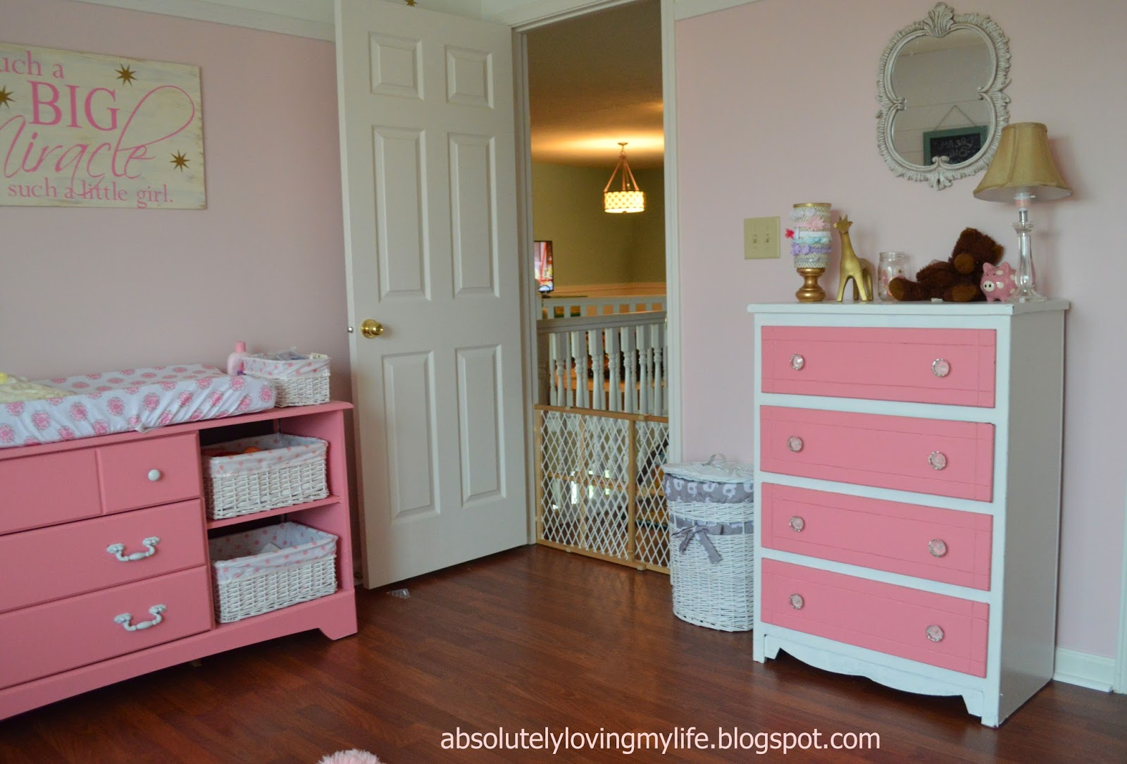 Loving Life Refinished Pink And White Dresser
