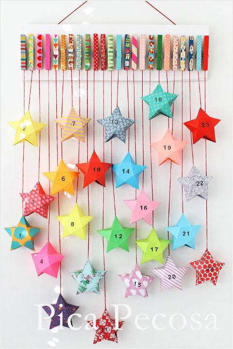 como-hacer-calendario-adviento-diy-reciclado-pinzas-ropa-cajas-papel-estrella-washi-tape