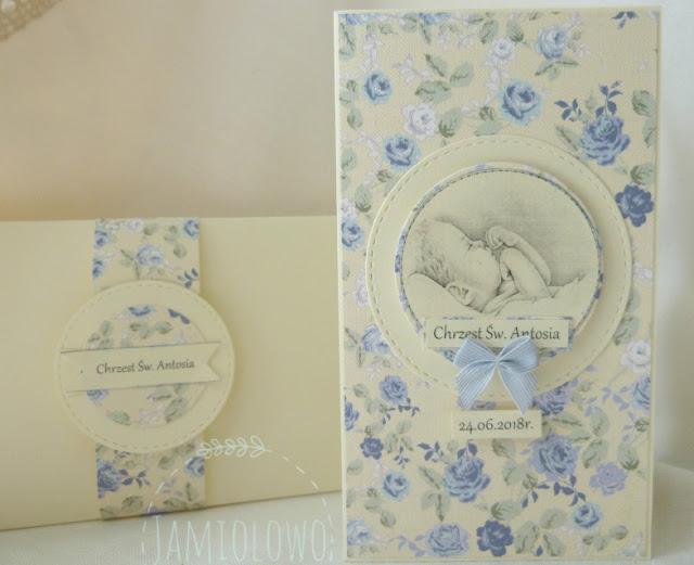 kartka z okazji chrztu z kopertą