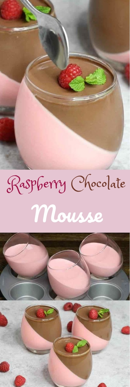 Raspberry Chocolate Mousse #deliciousrecipe #dessertidea