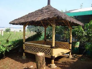 jasa pembuatan gazebo saung bambu jakarta utara murah bagus berkualitas