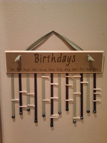 11 Ways to Organize with Clothespins - Birthday Wall Organizer :: OrganizingMadeFun.com