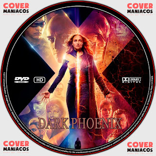 GALLETA LABEL X-MEN FÉNIX OSCURA-DARK PHOENIX 2019 [COVER DVD]
