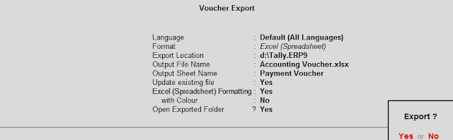 How to Export Data from Tally?