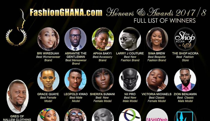 Victoria Michaels, Sima Brew, Abrantie & Others Win at FashionGhana Honours & Awards 2018