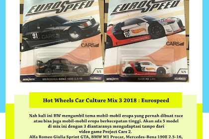 Hot Wheels Car Culture 2018 Mix 3 : Eurospeed