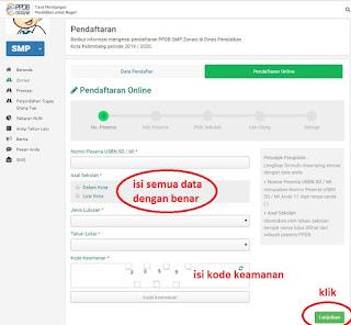 Pendaftaran Online di PPDB