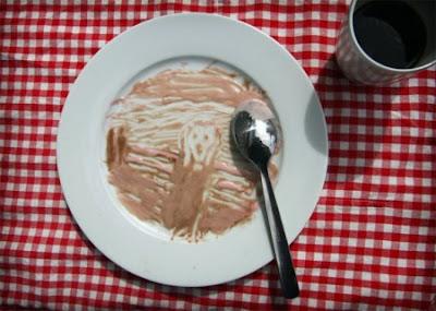El grito de Munch - Versión dibujo plato