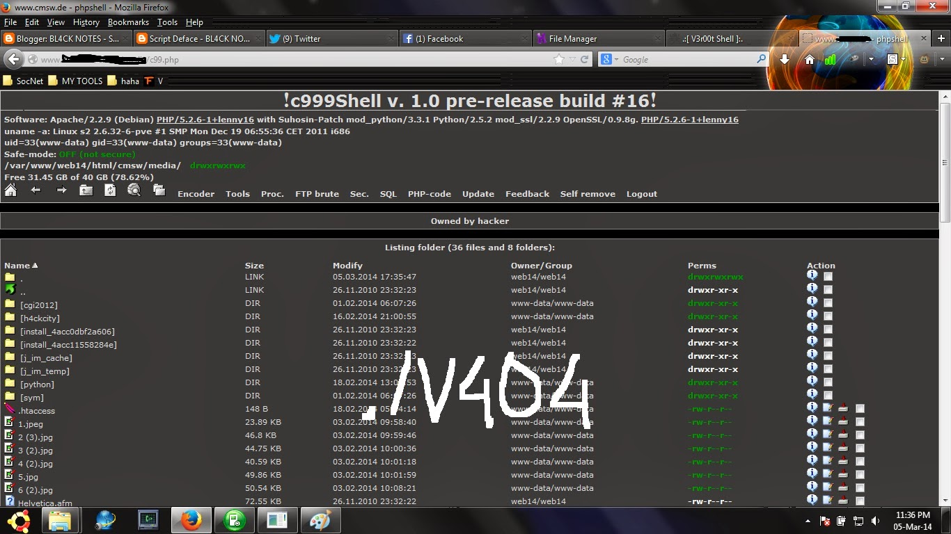 Shell deface download