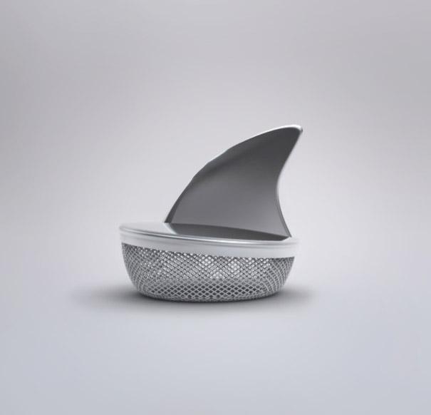 Köpek balığı çay süzgeci