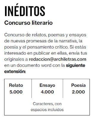 Concurso literario de Archiletras
