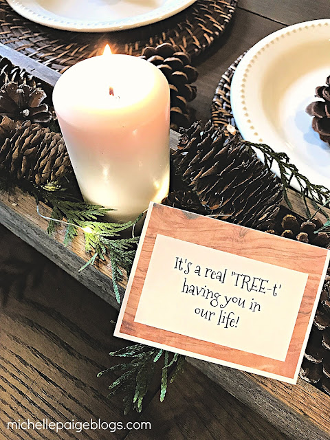 Tree pun party with free printables @michellepaigeblogs.com