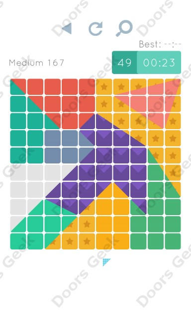 Cheats, Walkthrough for Blocks and Shapes Medium Level 167