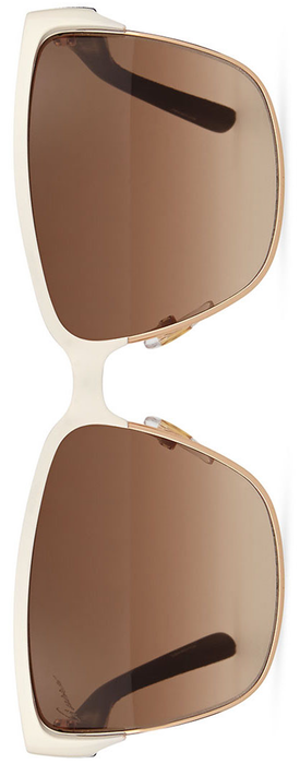 Gucci Dual-Rimmed GG-Temple Square Sunglasses